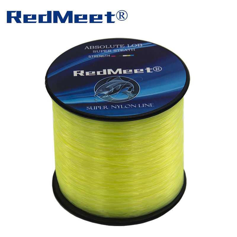 RedMeet 1000m Nylon Fishing Lines Fishing Rope Carbon Fiber Line Multifilament Strong Japan Sea Fly Fishing Lines White/Yellow