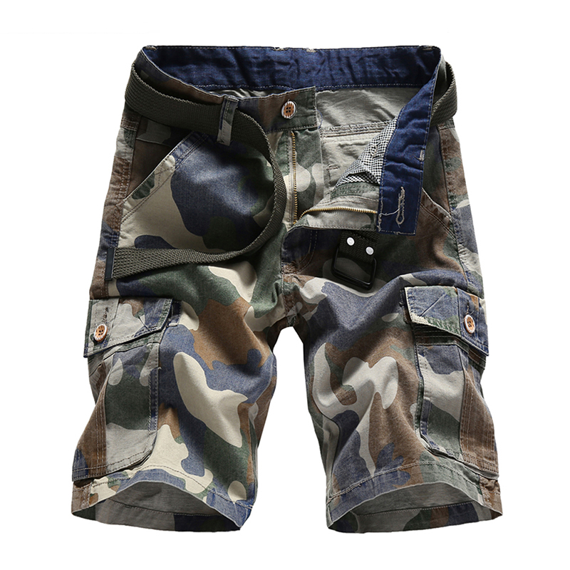 Summer Shorts Men 2018 Casual Camouflage Cotton Short Pants Army Military Trousers Pocket Bermuda Cargo Shorts