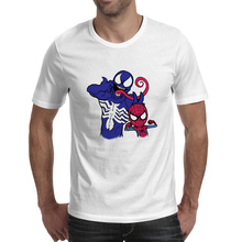 Venom And His Spider Bro T Shirt Super Hero Rock Funny Casual T-shirt Print Pop Anime Unisex Tee