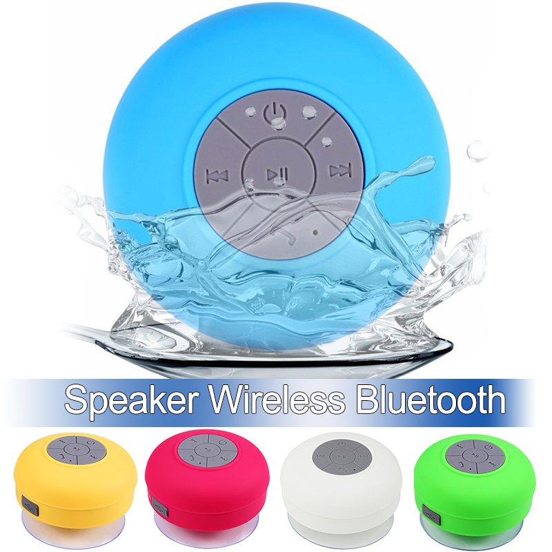 Mini Bluetooth Speaker Portable HandsFree Waterproof Wireless Speakers Bathroom Stereo Subwoofer Music Loudspeaker With Suction