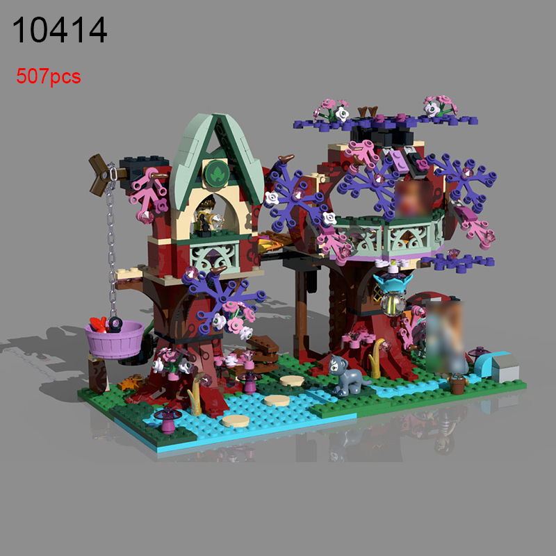 10414 507Pcs Elves Treetop Hideaway Emily Jones Building Bricks Model Building Kits Toy For Children Compatible 41075 hot nuevo 10415 elfos azari aira naida emily jones cielo fortaleza castillo building block toys
