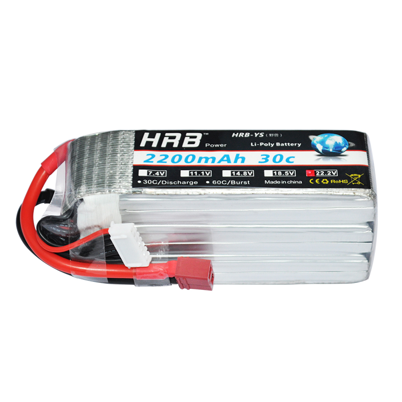 HRB <font><b>Lipo</b></font> Battery <font><b>6s</b></font> 22.2V <font><b>2200mAh</b></font> 30C 60C Battery <font><b>Lipo</b></font> Bateria for RC FPV Helicopter Boat Quadcopter <font><b>Lipo</b></font> Battery image