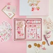Fromthenon Nette Reisende Notebook Zeitschriften Persönliche Tagebuch Planer mit Washi Band Papier Clips Aufkleber Geschenk Schreibwaren für Mädchen