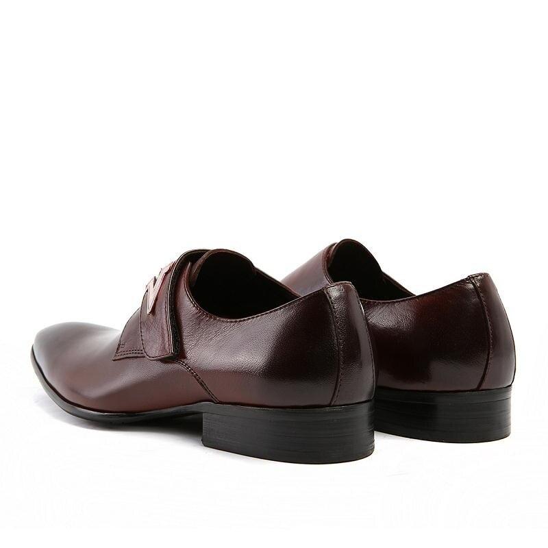 Vestido Formal brown Sapatos Cheia 2018 De Luxo Toe Homens Black Casamento Heinrich Tenis Negócios Apontou Couro Dos aqYwtw