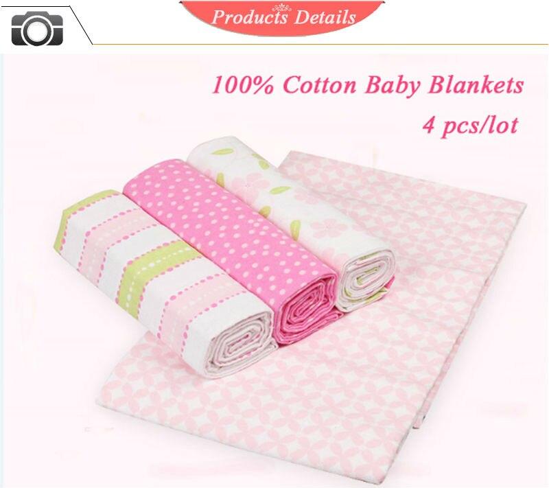 cobertores 4 padrões velo infantil swaddle bebê