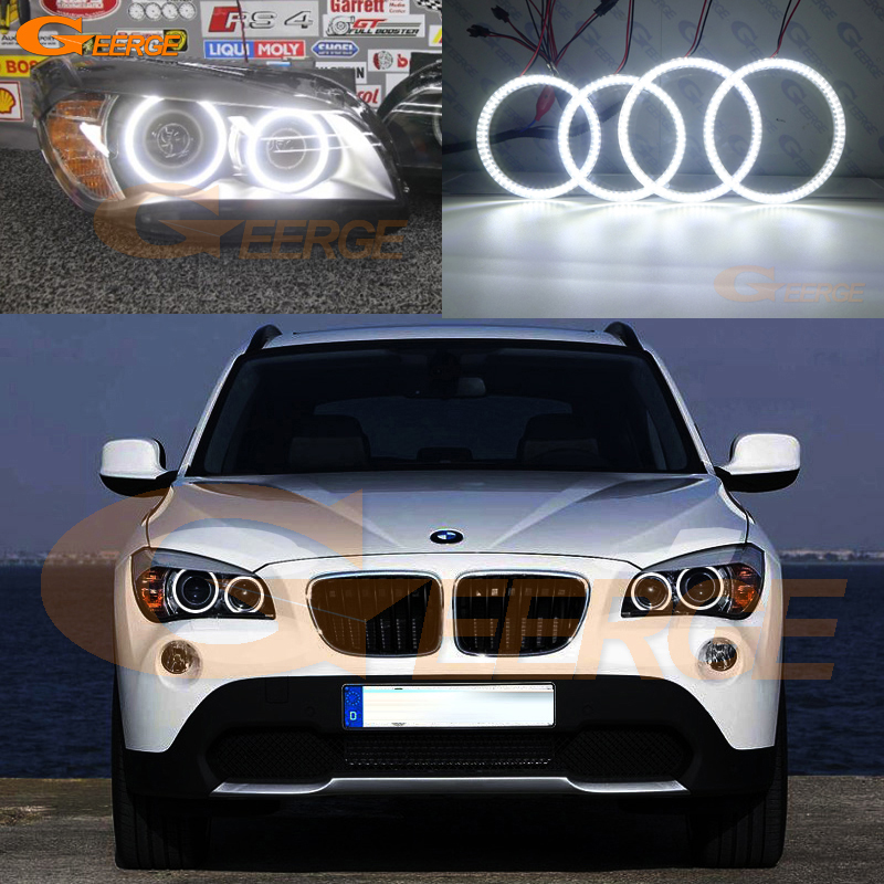 все цены на For BMW X1 E84 2010 2011 2012 2013 2014 2015 Xenon headlight Excellent Ultra bright illumination smd led Angel Eyes kit DRL