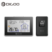 On sale Digoo DG-TH8380 Wireless Touch Screen Weather Station Thermometer Outdoor Forecast Sensor Clock 14.1cm x 9.4cm x 2.2cm