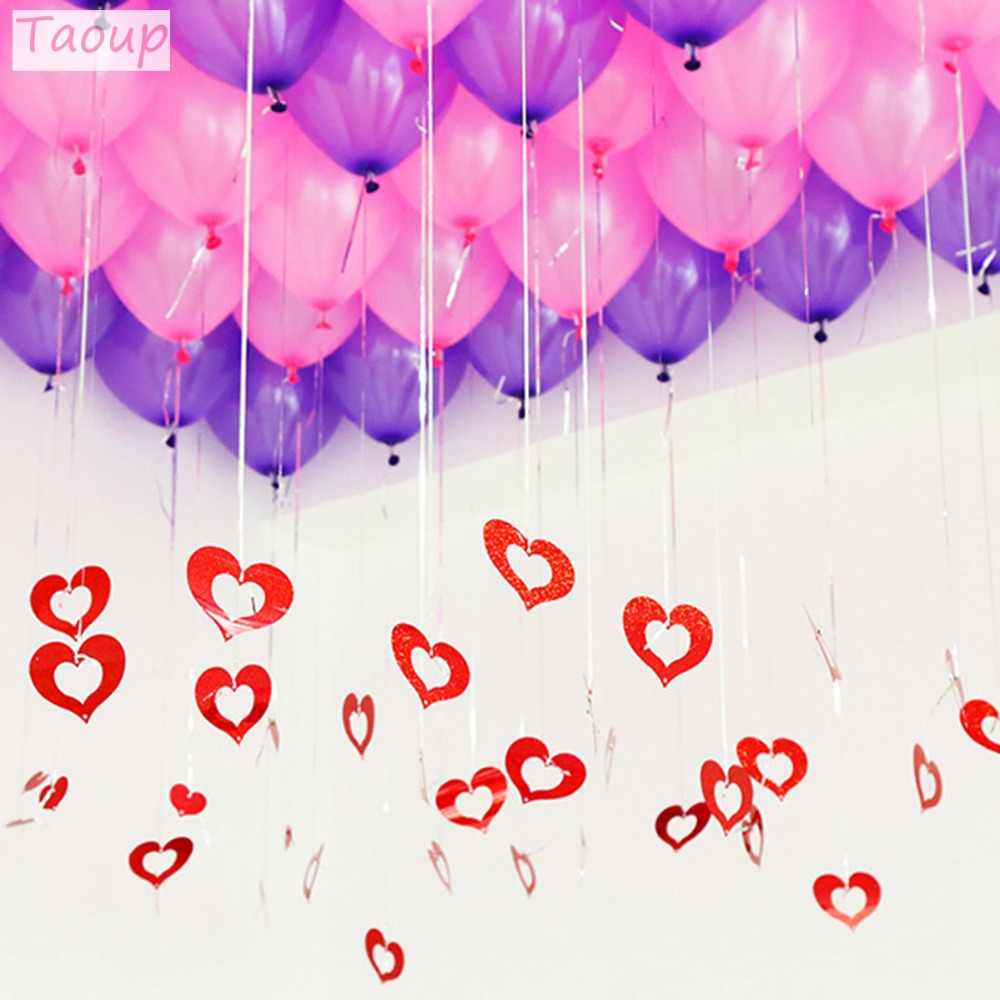 Wedding Birthday Decorations Plastic Balloon Shaped Helium Balloon Weights