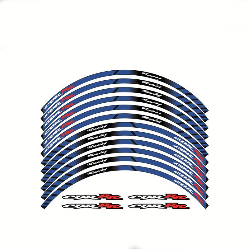 New Motorcycle High Quality 3M Adhesive Wheel Decal Reflective Stickers Rim Stapes For Honda CBR CBR600RR CBR954RR CBR1000RR