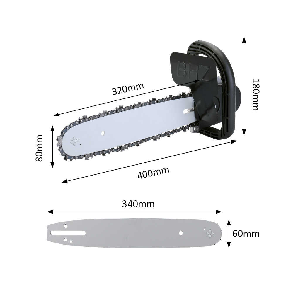 """มัลติฟังก์ชั่เลื่อยโซ่ไฟฟ้า Converter Bracket DIY ชุดสำหรับ 100mm 4 """"มุมไฟฟ้างานไม้เครื่องมือง่ายติดตั้ง"""