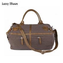 Luxy Moon bolsas de hombro de lona informales para Mujer, bolsos de mano, color caqui, café, bandolera