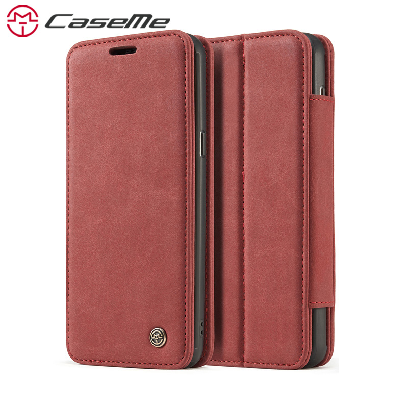 CaseMe H1 Case For Apple iPhone 7 8 Plus Luxury Retro Leather Phone Cases Stand Flip Card Pocket Magnetic Wallet Cover Back Case