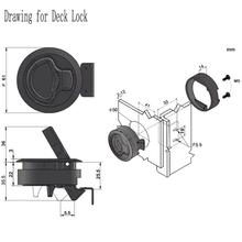10pcs Plastic Black Round Flush Mount Hatch Flush Pull Latch Marine Lock Lift Slam Latch RV Yacht Boat Deck Hatch Door Hardware
