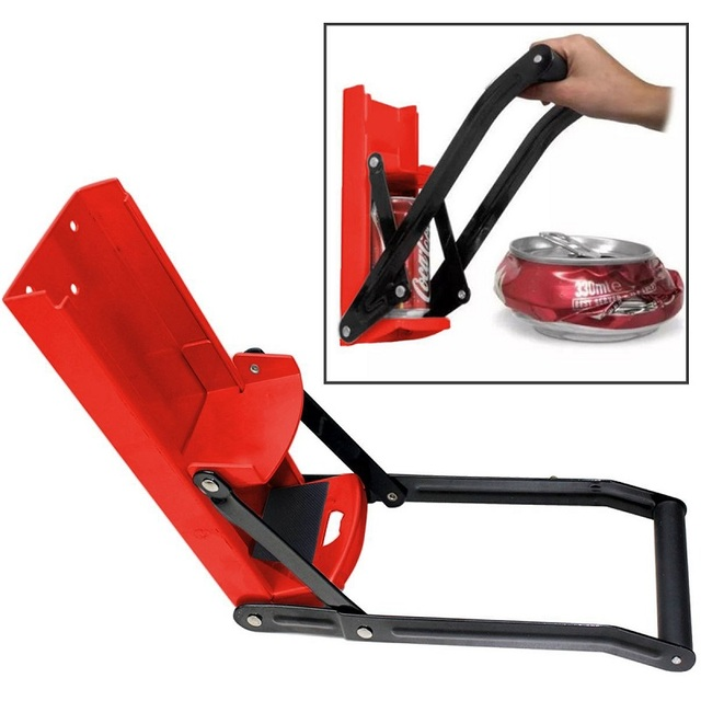 Bottle Opener Beer Tin Can Crusher With Grip Handle Wall Mounted Recycling Tool Environmentally Friendly Coke Bottle Flattening