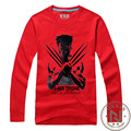 Os Wolverines T-Shirt Dos Homens de Manga Longa Menino Tshirts Tee Camiseta Filme Marvel Super Hero X-Homem