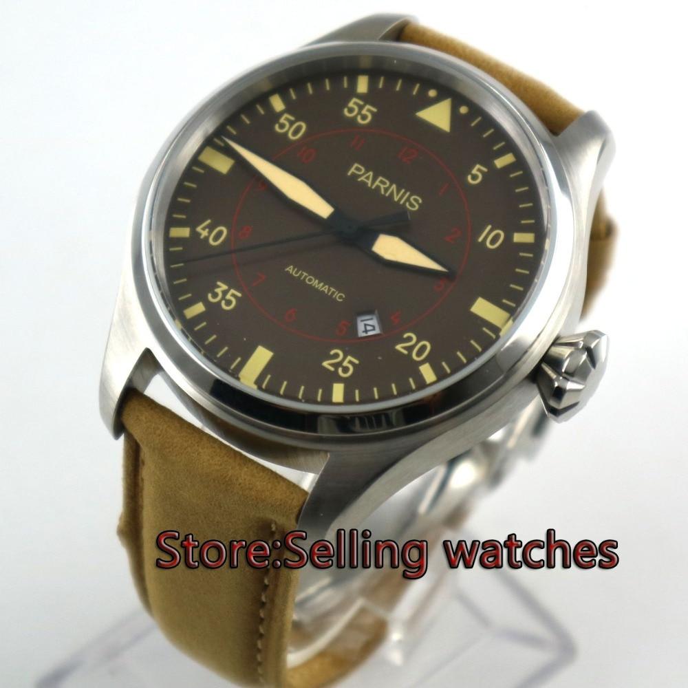 47mm parnis coffee dial big crown date 21 jewel miyota 8215 automatic mens watch47mm parnis coffee dial big crown date 21 jewel miyota 8215 automatic mens watch