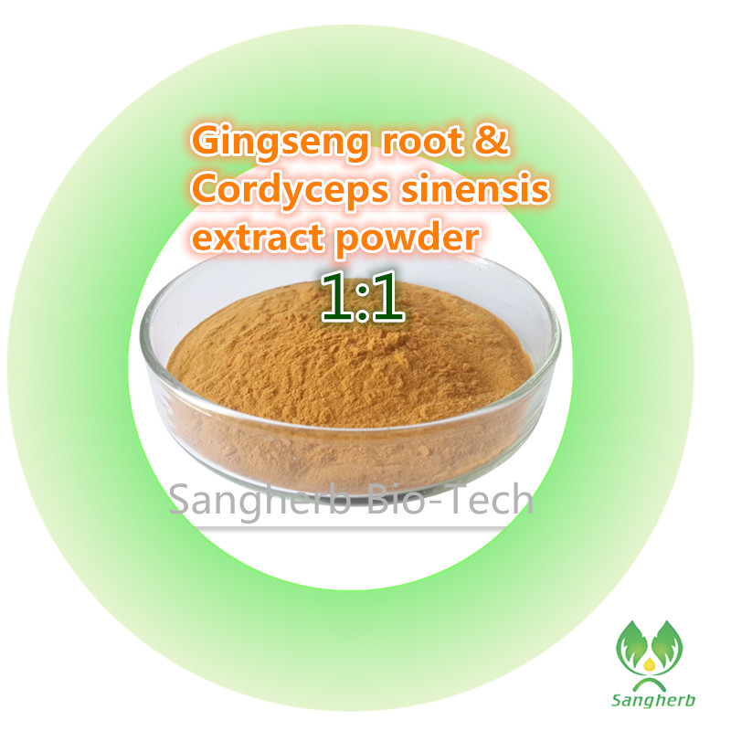 free shipping 100% pure natural 10 years Korea ginseng root extract and Cordyceps sinensis extract powder 1kg pure natural anti virus indigowoad root extract radix isatidis extract powder 400g lot