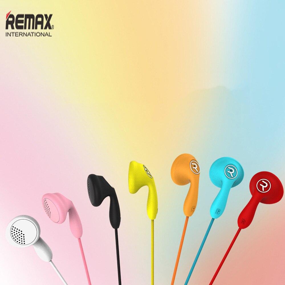 New Original REMAX RM-301 Candy Colorful Dynamic Driver HIFI Earphone Headphone td817 dropship