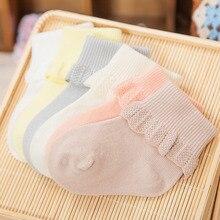 Кружевные носки для новорожденных; носки принцессы для маленьких девочек; однотонные короткие носки для малышей; сезон весна-лето; Sokken; подарки От 0 до 1 года