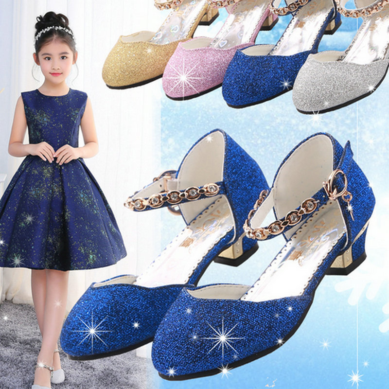 girls princess shoes for party and wedding children girl leather shoes school shoes high heels shoes