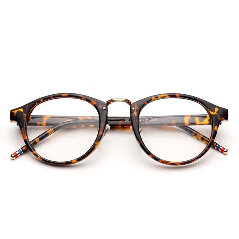 2016 new fashion mens vintage johnny depp brand thom round optical glasses frame retro browne eyeglasses