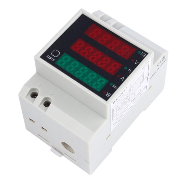Multi Display Digital Ferroviário KWH de Energia AC 110 V 220 V DIN RAIL 100A Voltímetro Amperímetro Medidor de Energia Elétrica