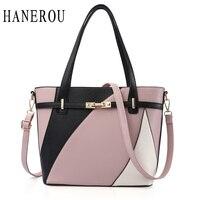 2017 Fashion Patchwork Women Shoulder Bags Handbags Women Famous Brands Lock Crossbody Bags For Women Big