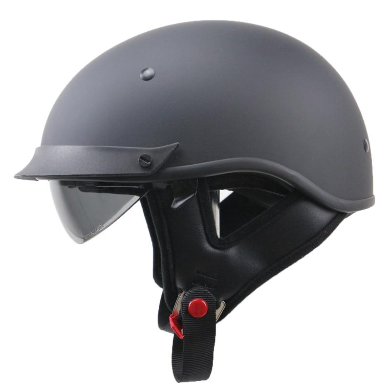 ФОТО Professional Harley Style Motorbike Helmet DOT approved Touring Motorcycle Helmet America Style with Internal Black Sunglasses