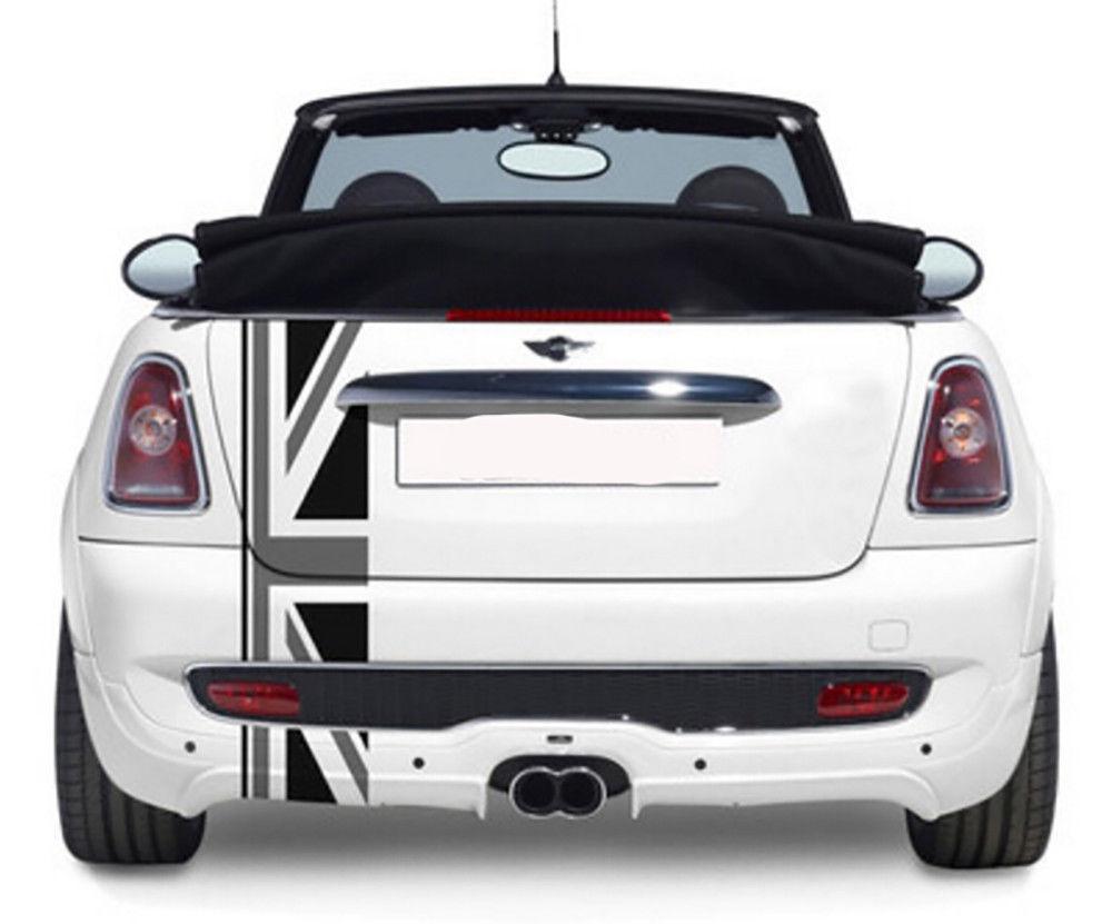 For Mini Cooper Union jack bonnet stripes Car Hood Decor Trim Sticker Decal