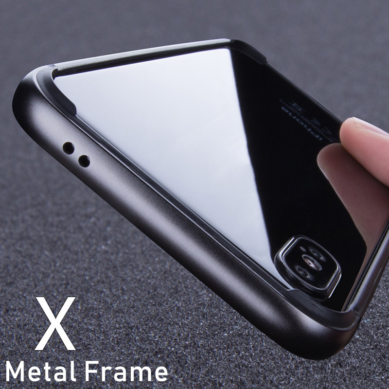 Aluminum Bumper Flexible Silicone Case For IPhone 7 6S 8 XS Max XR XS Luxury Hard Metal