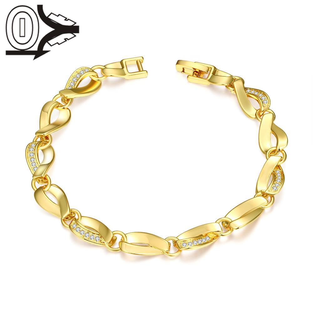 B011 Latest Women Classy Design silver plated bracelet Factory ...