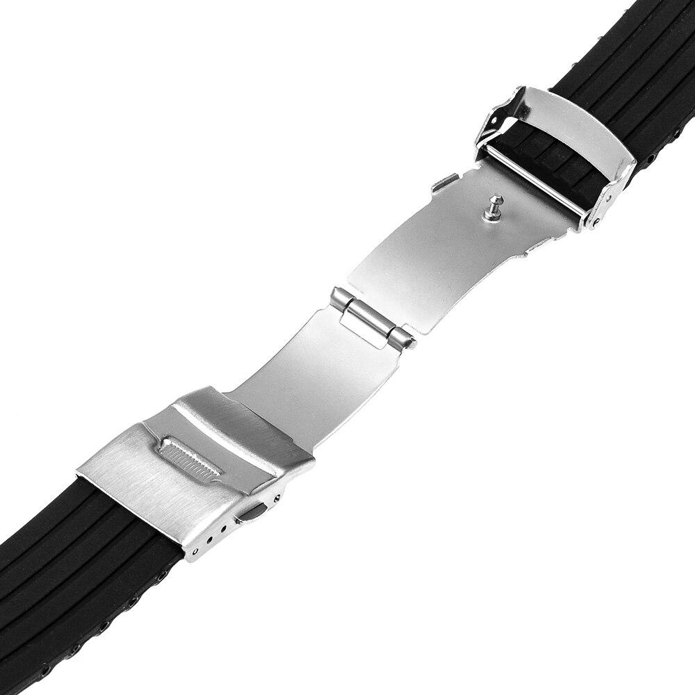Silikonegummi urbånd til iWatch Apple Watch Series 5 4 3 2 1 - Tilbehør til ure - Foto 5
