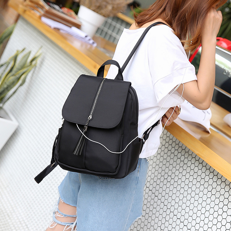 Korean Style All match Preppy Style Oxford Women Backpack Nylon Mommy Backpack Simple Fashionable Stylish Female