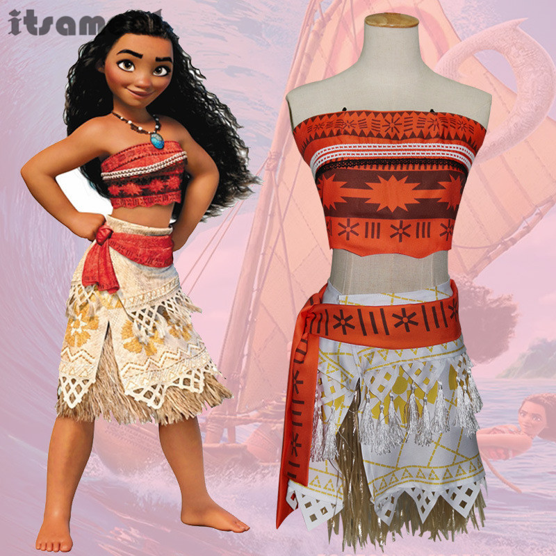 movie princess moana costume for kids moana princess dress cosplay costume children halloween costume for girls party dress - Top Halloween Kids Movies
