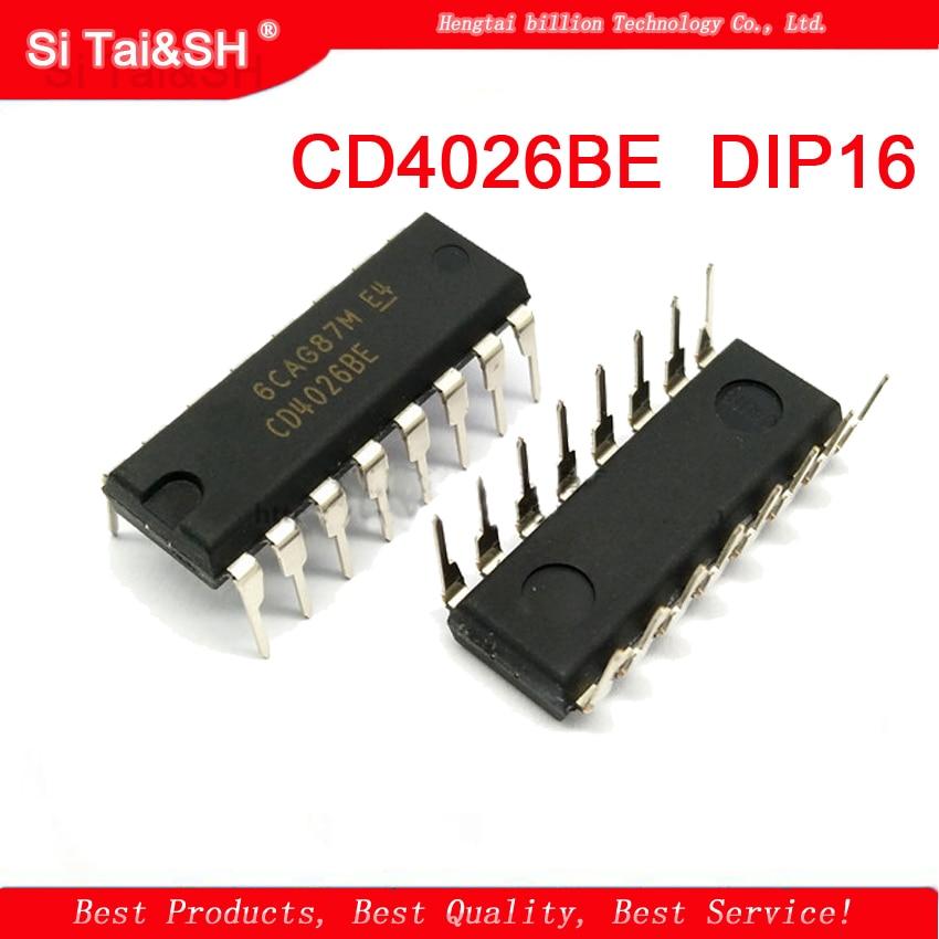 1PCS  CD4026 CD4026BE CD4026B DIP-16 Logic Chip