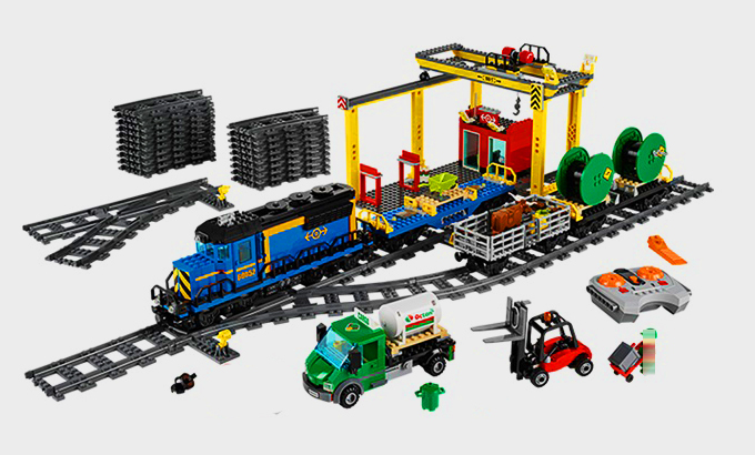 LEPIN 02008 City Series 959pcs The Cargo Train Model Building Block set Brick Educational Toy For children 60052 Gift lepin 02008 the cargo train 959pcs city series legoingly 60052 plate sets building nano blocks bricks toys for boy gift