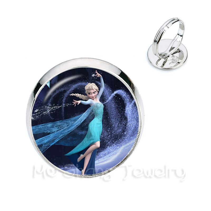 Earrings Elsa Anna Olaf Fever Earrings Cartoon Gift Girl Jewelry Round Silver Plated Stud Earrings For Women Girls Creative Gift Jewelry & Accessories