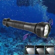 BORUIT Brand Diving 80Meter 5+L2 LED Flashlight Waterproof Lantern Lamp Handheld Torch Light 18650 Battery 3000LM New Style M55