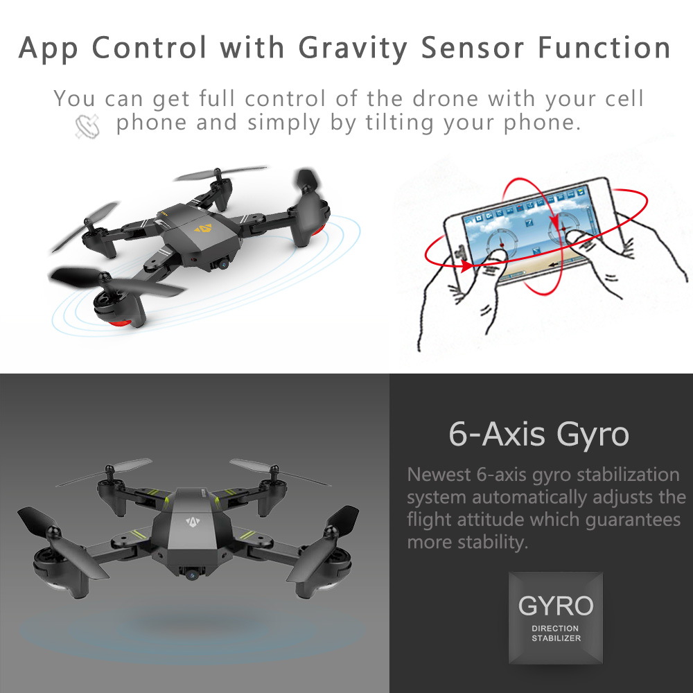 Foldable Quadcopter Drone With Remote Control And 2.0MP HD Best Camera WiFi Pro Drones camera Drone Drone with Camera Drone With Remote Control