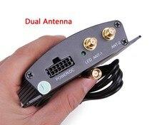 De alta Velocidad Del Coche de HD Sintonizador de TV DVB-T2 TV Digital Caja Del Receptor Móvil antenas Duales para Rusia Hotaudio Dasaita