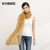 VOMINT 2017 New Design Women's Winter Stole Ladies Special Florals Scarf Women New Shawls and Scarves L031