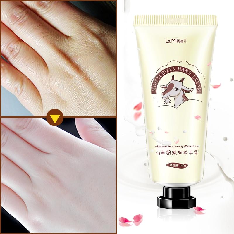LAMILEE GoatMilk Hand Cream Anti-Dryness Moisturizing Anti-chapping whitening Hand care 40g Hydrating for Winter Repair 3