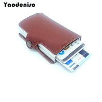 Yaodeniso RFID Wallet Credit Card Metal Holder Degaussing Business Cards Case Wallet Unisex Business Cards Pocket