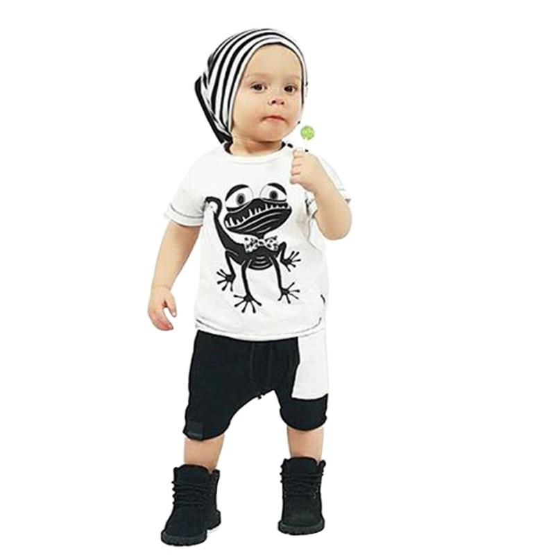 Baby Clothes Toddler Kids Boys Girls Frog Pattern T-shirt Tops+Shorts Pants Children Outfits Clothing 2 Pieces Set карандаш для губ limoni lip pencil 38 цвет 38 variant hex name e95567