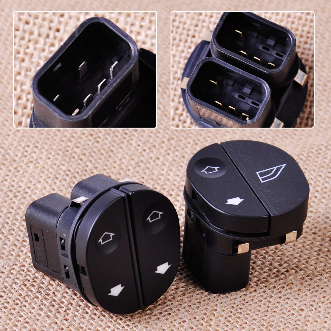 Citall power window switch driver side front passenger side 96fg14529ac 96fg14529bc for ford fiesta fusion