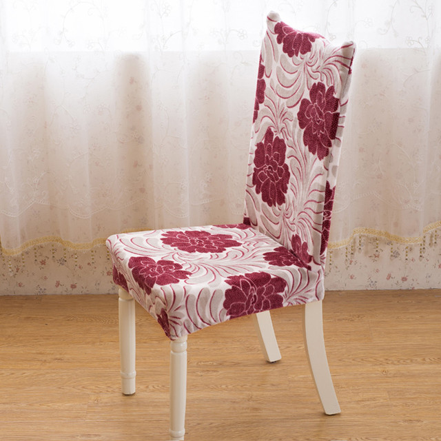 Traditional Chinese Style Seat Chair Cover Farley Velvet Universal Dining Chairs  Covered Wedding Party Banquet Hotel