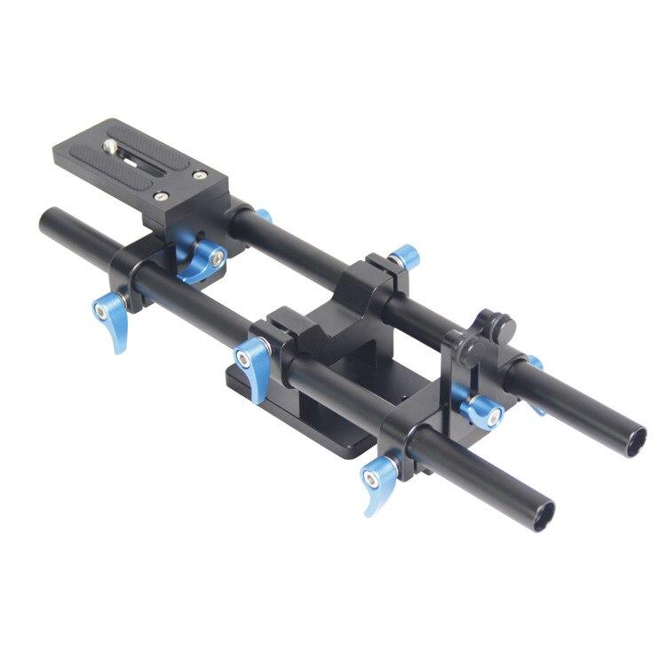 Système de Support de tige de Rail à dégagement rapide 15mm plaque de base de Rail de Rail avec vis de 1/4