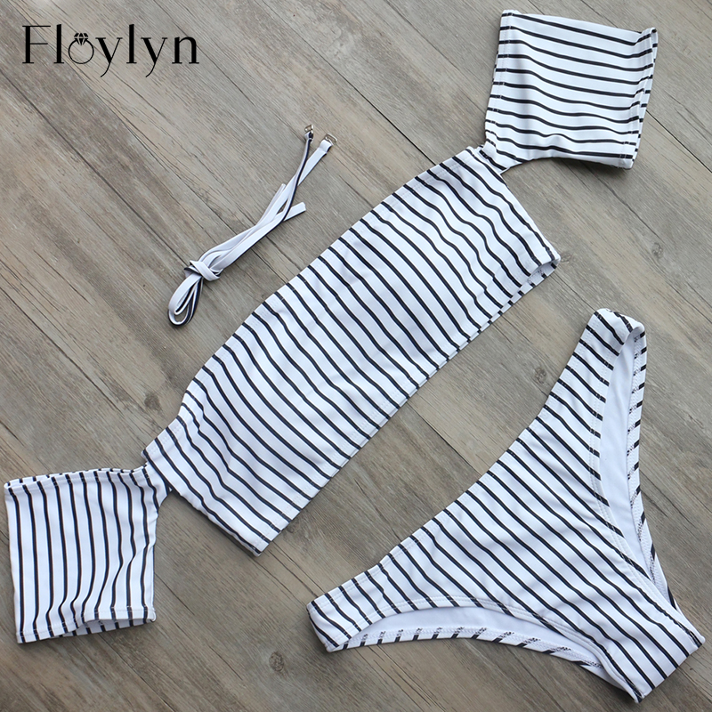 Floylyn Off Shoulder <font><b>Bikini</b></font> Women's Beach <font><b>Brazilian</b></font> May <font><b>Bikinis</b></font> Set Secret <font><b>Sex</b></font> Bath Top New Swimwear Female Swimsuit Indoor image