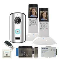 JERUAN Wireless Video Door Phone Doorbell Intercom System KIT IP55 Waterproof 120 Degree Camera Remote Control
