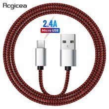 2.4A микро USB кабель Быстрый кабель синхронизации данных и зарядки для Samsung Huawei Xiaomi LG HTC Nokia Android Microusb Кабели для мобильных телефонов
